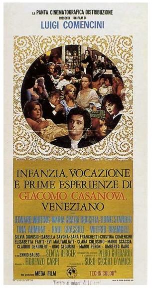 Infanzia, vocazione e prime esperienze di Giacomo Casanova LOCANDINA