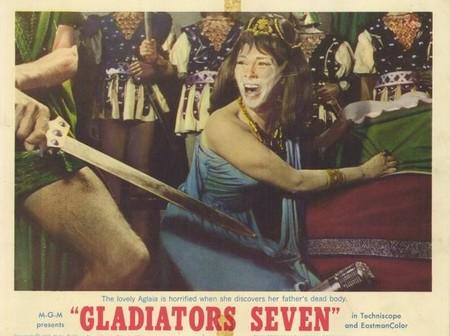 I 7 gladiatori lobby card