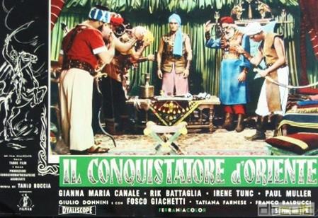 I conquistatori dell'Oriente lobby card