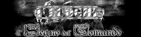 Il segno del comando banner i luoghi