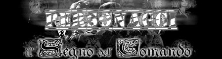 Il segno del comando banner personaggi