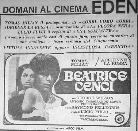 Beatrice Cenci flano