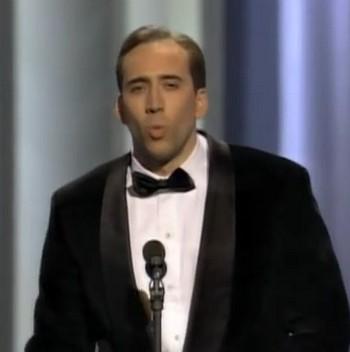 Oscar presentatore Nicolas Cage