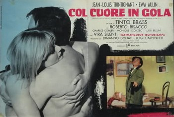 Col cuore in gola lobby card 1