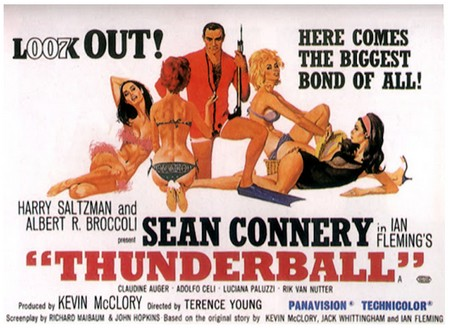 Agente 007 Thunderball banner