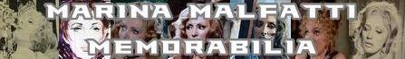 Marina Malfatti banner memorabilia