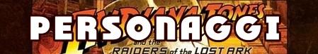 I predatori dell'arca perduta banner personaggi