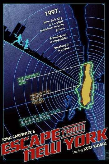 1997 fuga da New York locandina 8
