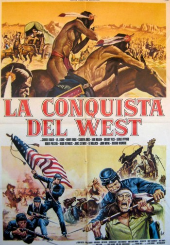 La conquista del west locandina