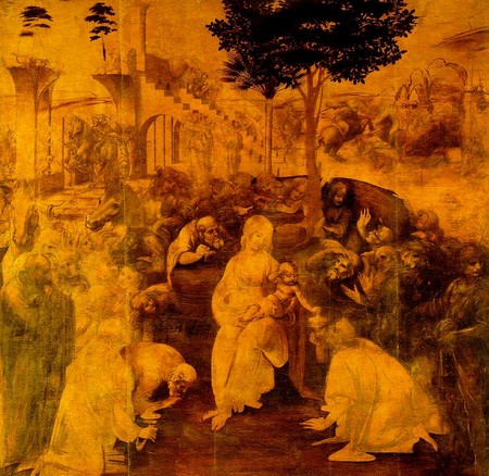 Leonardo 10 L'adorazione dei Magi
