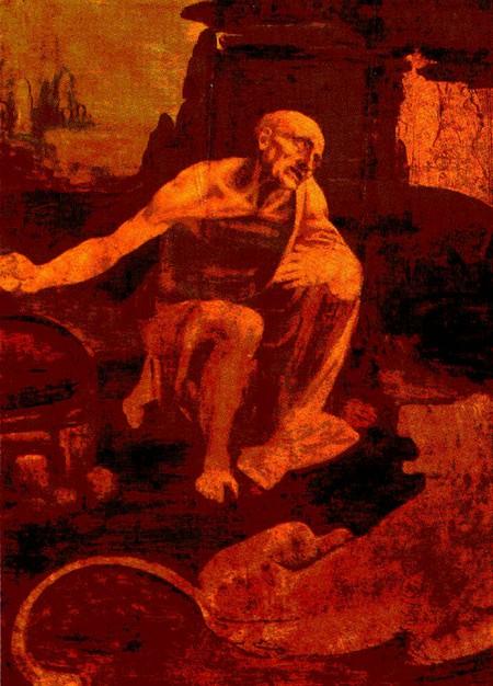 Leonardo 13 san gerolamo penitente