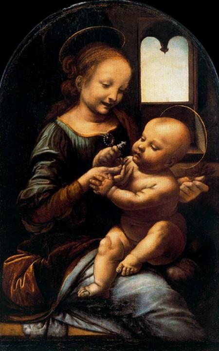 Leonardo 15 Madonna con bambino Madonna Benois