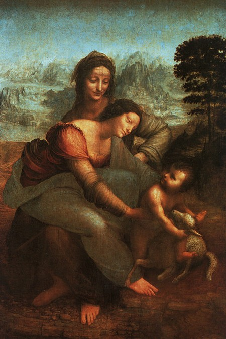 Leonardo 8 La vergine Sant'Anna e il bambino