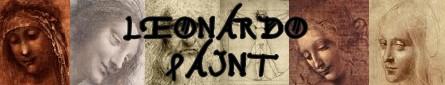 Leonardo da Vinci banner paint