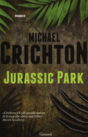 Jurassic Park copertina romanzo