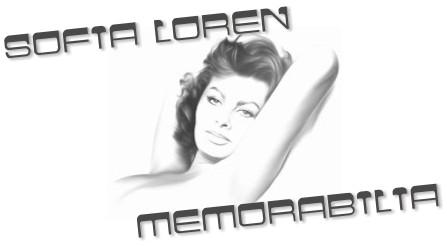 0-Sofia Loren banner memorabilia