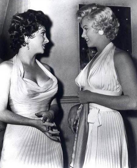 3 Marilyn Monroe e Lollobrigida