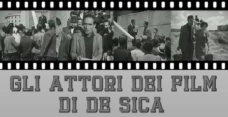 Vittorio De Sica banner gli attori