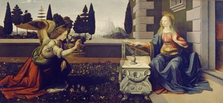 5-11 Leonardo Da Vinci Annunciazione Galleria degli Uffizi Firenze