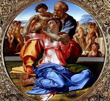 5-12 Michelangelo Tondo Doni Galleria degli Uffizi Firenze