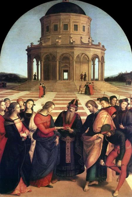 5-16 Raffaello Lo sposalizio della Vergine Pinacoteca di Brera a Milano