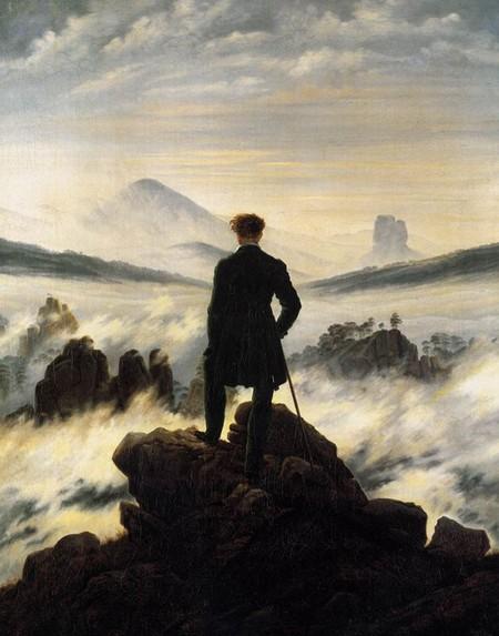 5-5 Caspar David Friedricht Viandante sul mare di nebbia,Amburgo, Kunsthalle