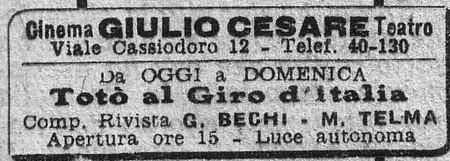 6-1 Totò al giro d'Italia flano