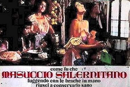 3-13 Come fu che Masuccio Salernitano, fuggendo con le brache in mano, riuscì a conservarlo sano