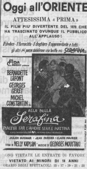 17 Alla bella Serafina