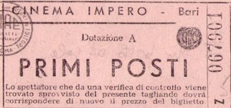 Biglietto Cinema impero