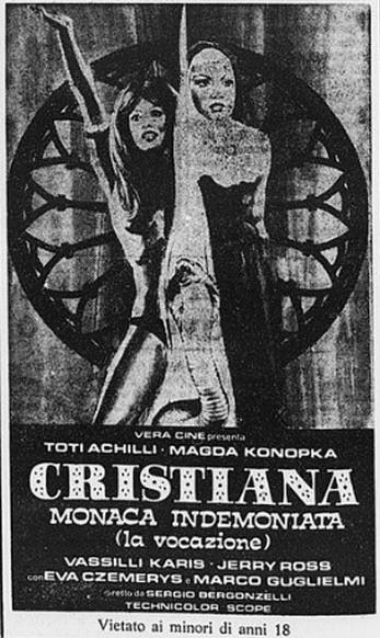 Cristiana Monaca indemoniata flano