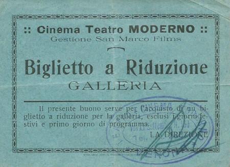 Biglietto Cinema teatro Moderno verona