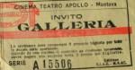 Biglietto Cinema ApolloMantova
