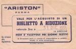Biglietto Cinema AristonParma